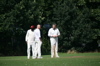 Lucas and Jez size up the wicket with the skip