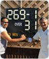 Record breakers Spencer and Harsh, 5 August 2018